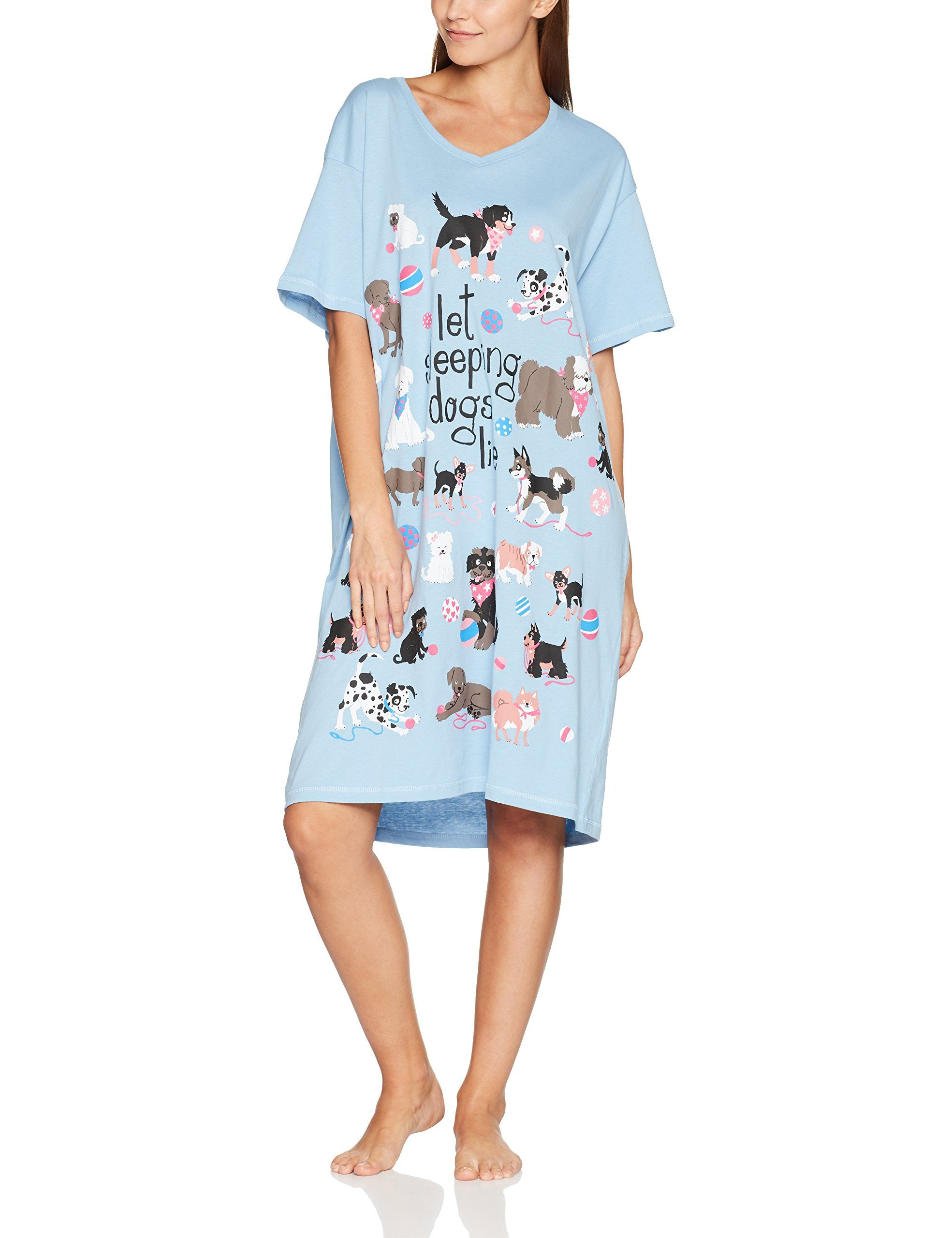 e30f03653c Little Blue House by Hatley Womens Cats and Dogs Sleepshirts Let Sleeping  Dogs Lie One Size   You can get more details by clicking on the image.