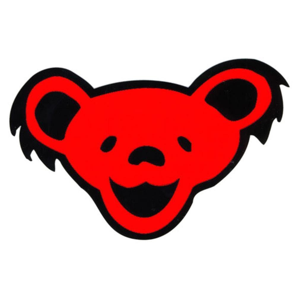 Grateful Dead Bear Head Clear Decal Grateful Dead