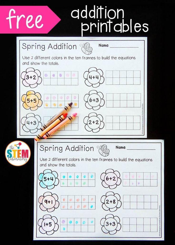 Spring Ten Frame Subtraction | Ten frames, Math and Math facts