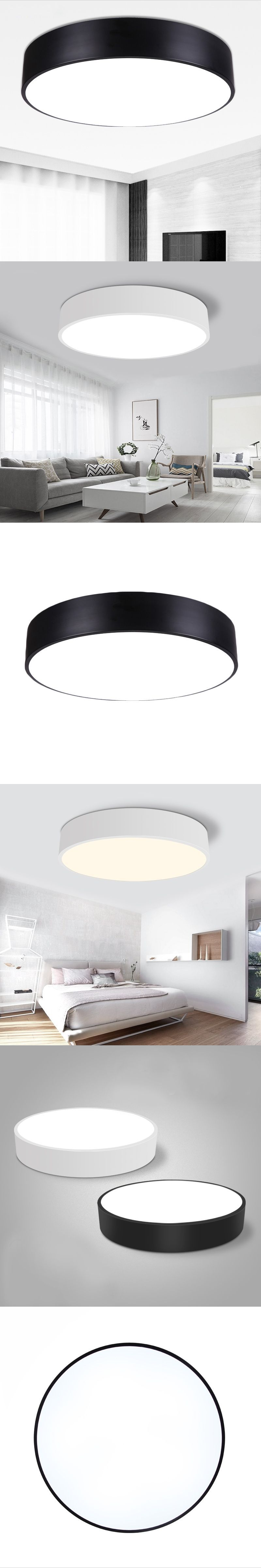 LED ceiling lamp ideal modern white indoor round suitable for home ...