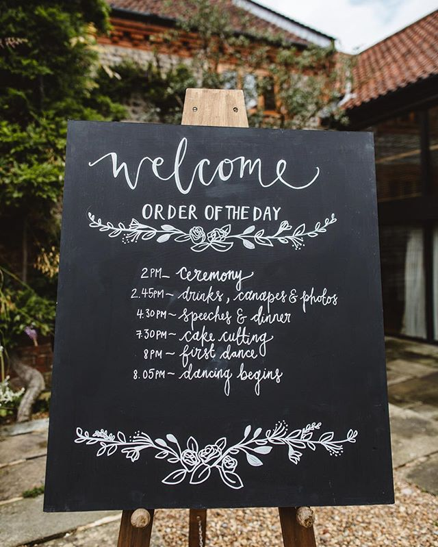 Order Of Wedding Reception: Love This Order Of The Day Sign From @thelittlelendingco