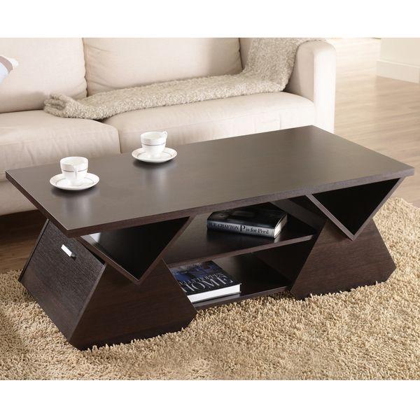 Furniture of America Melika - Mesa de café con diseño geométrico