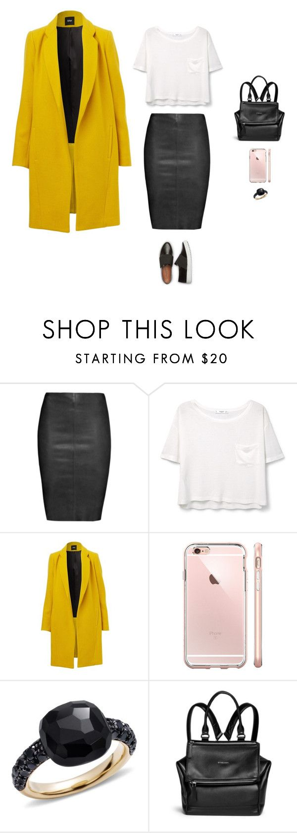 """""""Say a prayer for me"""" by justyna-tita-witkowska ❤ liked on Polyvore featuring Jitrois, MANGO, Pomellato, Givenchy, look, Leather and classy"""