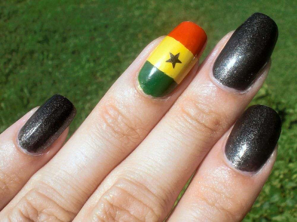 Nails I did in support of the Ghana International team in 2010 ...