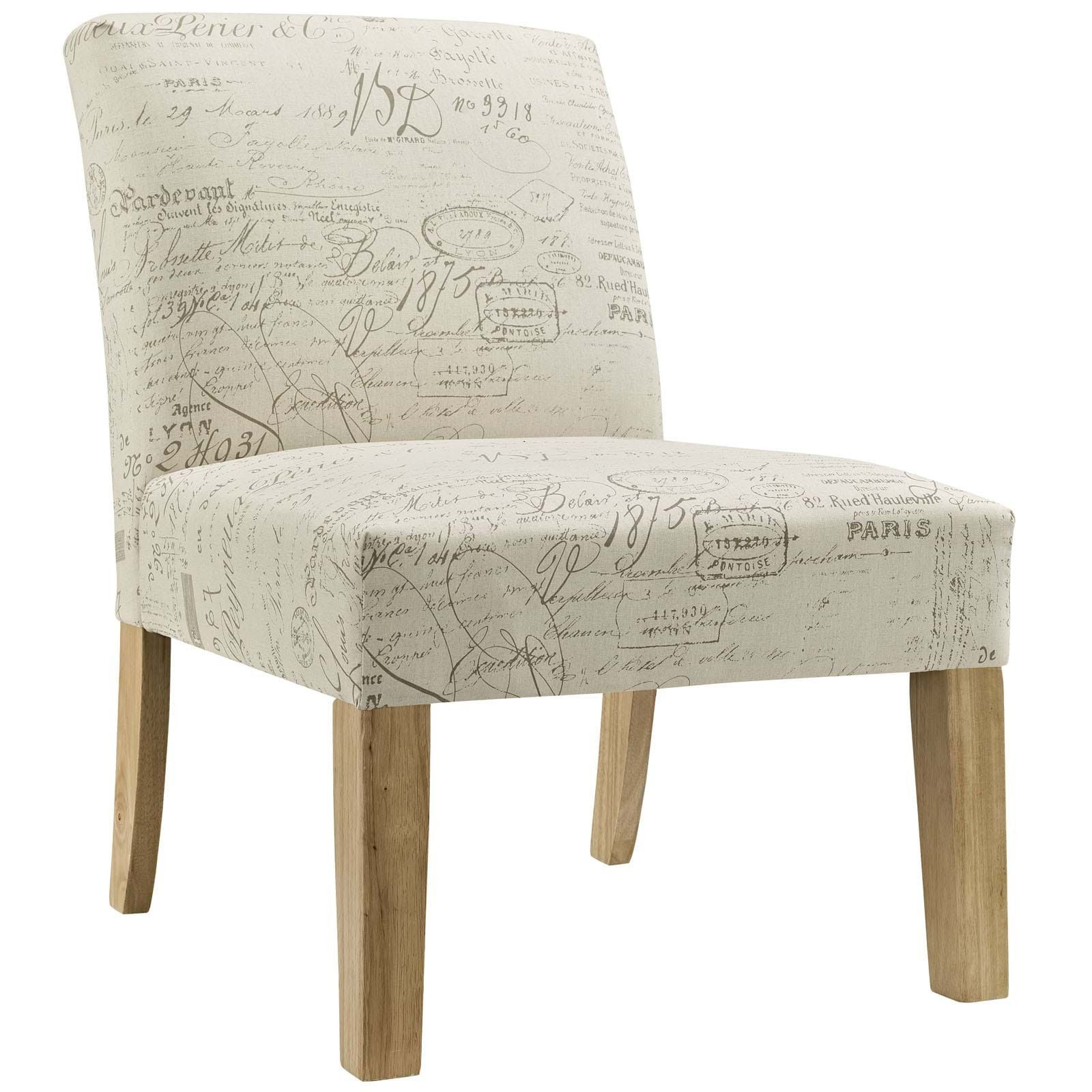 AUTEUR FABRIC SIDE CHAIR IN WHITE
