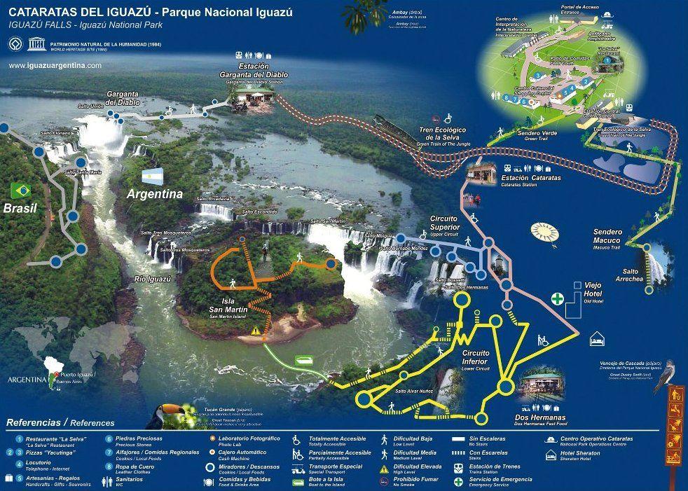 Cataratas De Iguazu Lado Argentino Mapa.Que Hacer En Iguazu Que Ver Y Hacer En Las Cataratas De