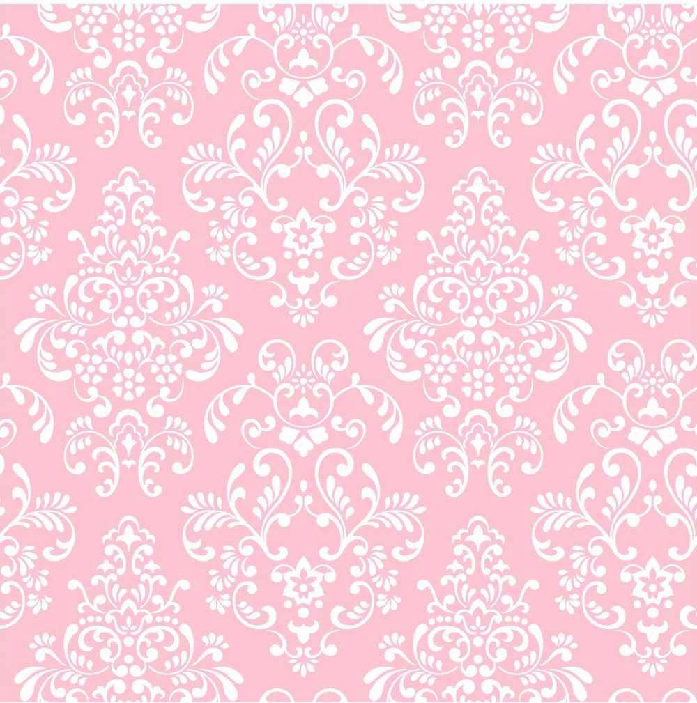 York Wallcoverings Kids Delicate Pink Damask Wallpaper