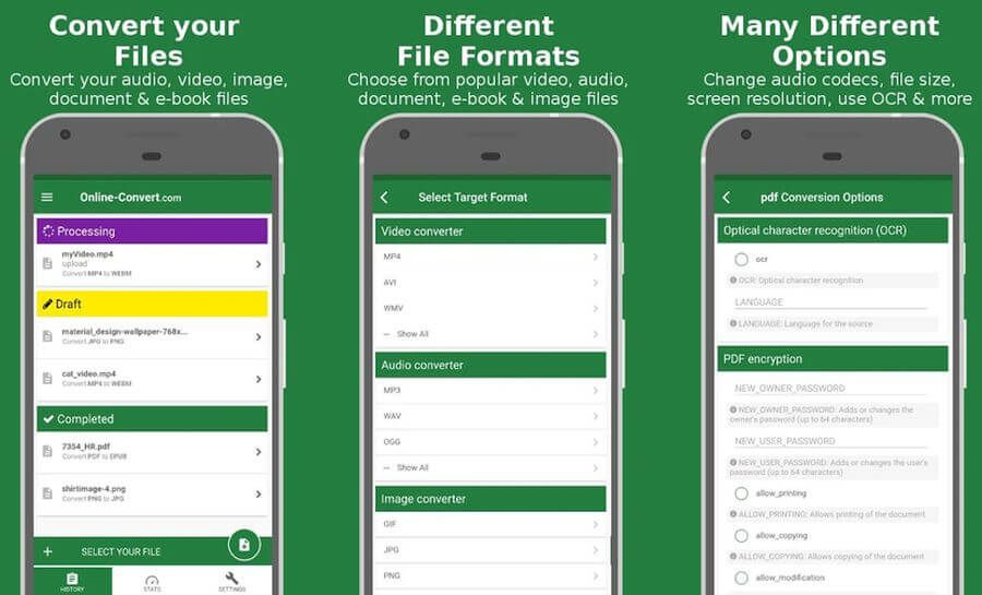 File Converter Es El Mejor Convertidor De Archivos Para Android Y Es Completamente Gratuito Puede Convertir Audio Vídeo Eb Android Electronic Products Phone