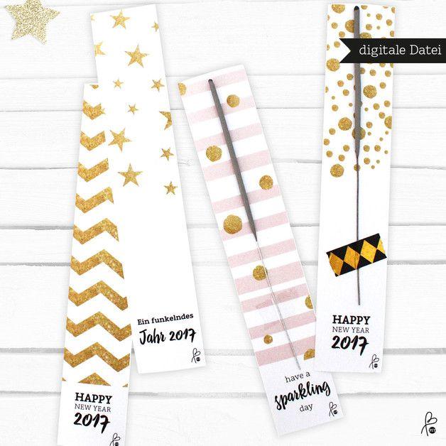 Wunderkerzen Hochzeit Label PRINTABLE PDF