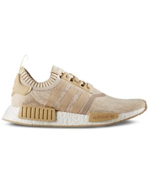 d3fd75836ef8f adidas Men's Nmd R1 Primeknit Casual Sneakers from Finish Line - Tan/Beige  10.5