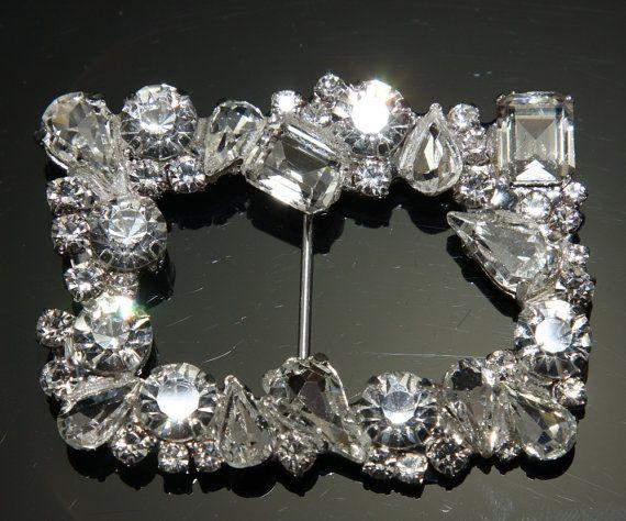 Rhinestone Crystal Flower Buckle Wedding Craft Supply Flat Back Leaf Crystal Buckle