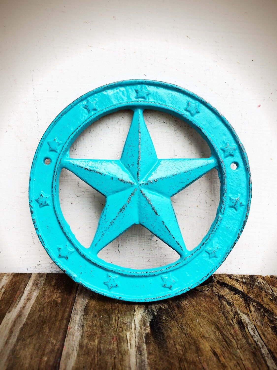 Bold Western Star Wall Plaque Shabby Chic Aqua Turquoise Blue Texas Rustic Cowboy Country Art Home Decor By Boldhouse On Etsy