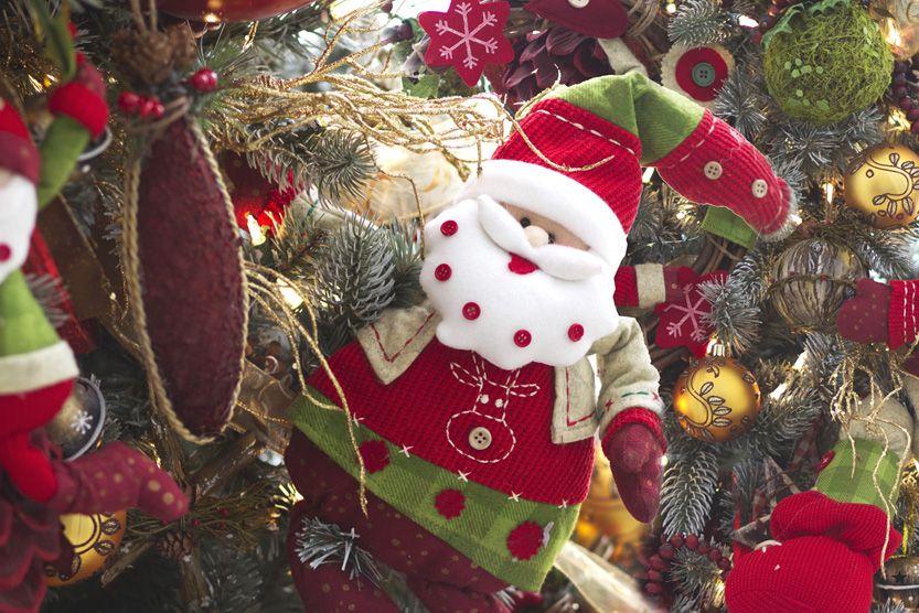 Un detalle de Santa Claus. Natal