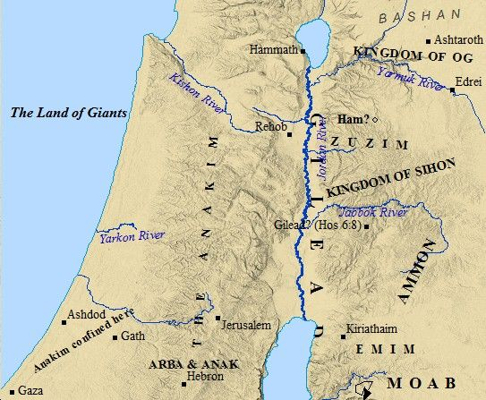 The Promised Land was a land of giants prior to Israels conquest