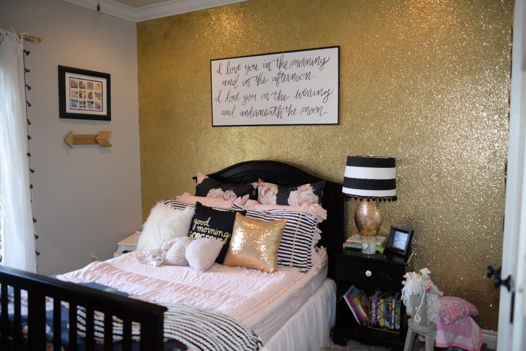 A Girly Glam Toddler S Room Little Lovelies Blog Gold Girls Room Girls Bedroom Girl Bedroom Decor