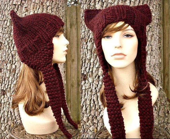 Instant Download Knitting Pattern Cat Ear Hat Knitting Pattern