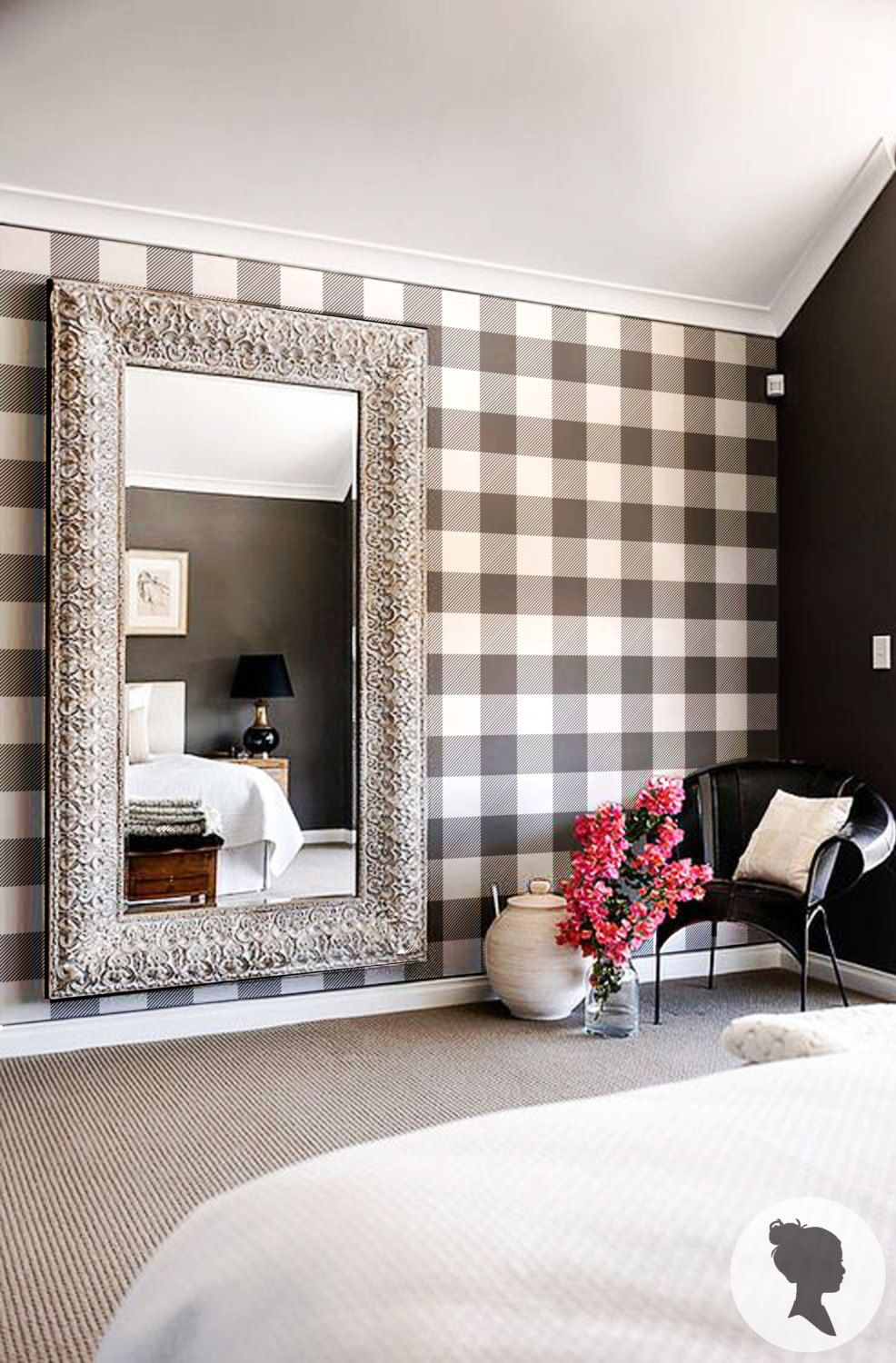 Best Gingham Removable Wallpaper Buffalo Check Plaid Self 400 x 300