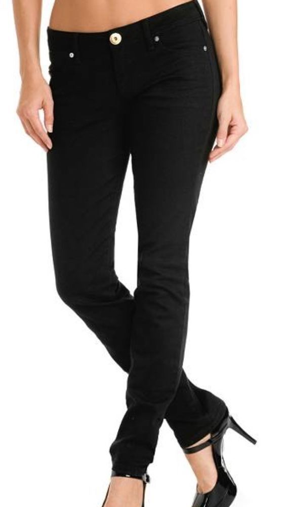 f7a5ce457900 Guess Eva Black Stretch Women's Skinny Jeans Size 25 X 33 NWOT #Guess # SlimSkinny
