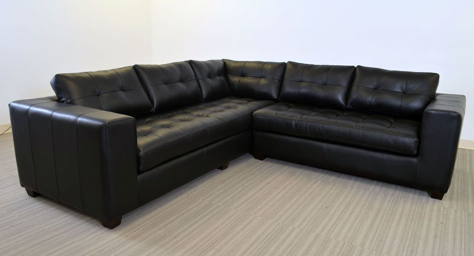 Gev Sofa Sectional The Leather Company Clean Line Large Scale Contemporary Style