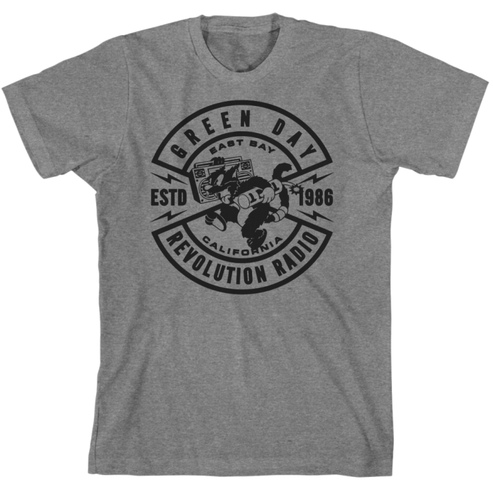 Slim fit heather grey t-shirt featuring TNT Cat graphic on the front.