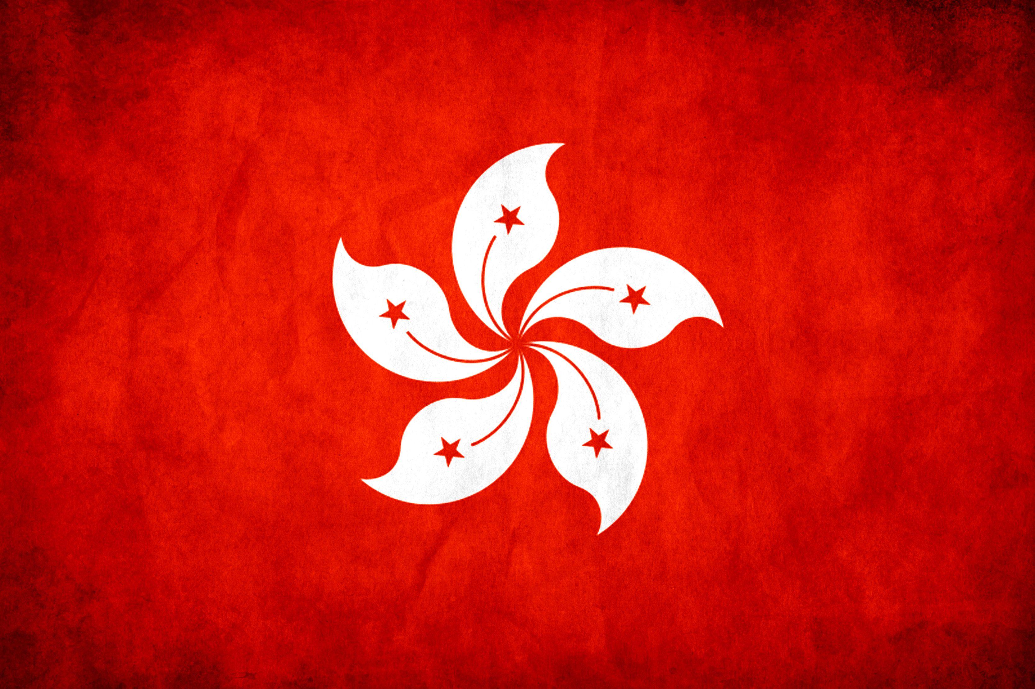 Hong Kong Flag Art Flag Drawing Flag