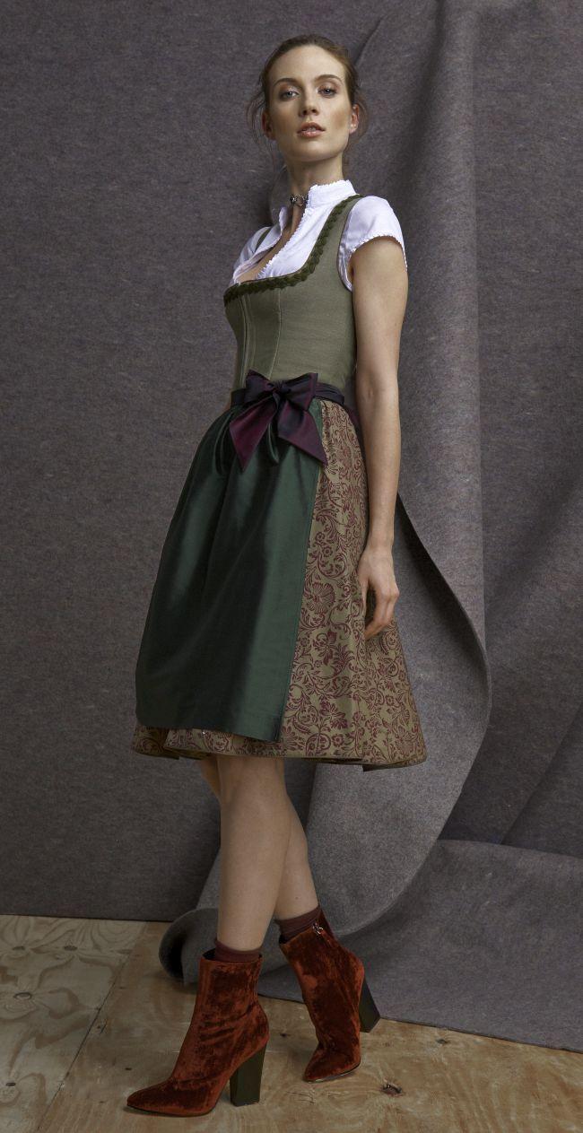 Dirndl Melanie in Schilf von KINGA MATHE  Oktoberfest outfit