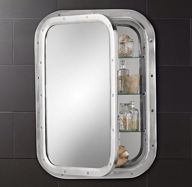 Submarine Inset Medicine Cabinet Vintage Medicine Cabinets Wall Mounted Medicine Cabinet Bathroom Medicine Cabinet