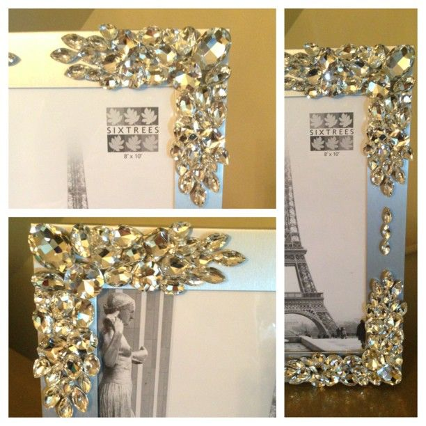 Pin By Tasagi Designs On Crystallized Picture Frames Bling