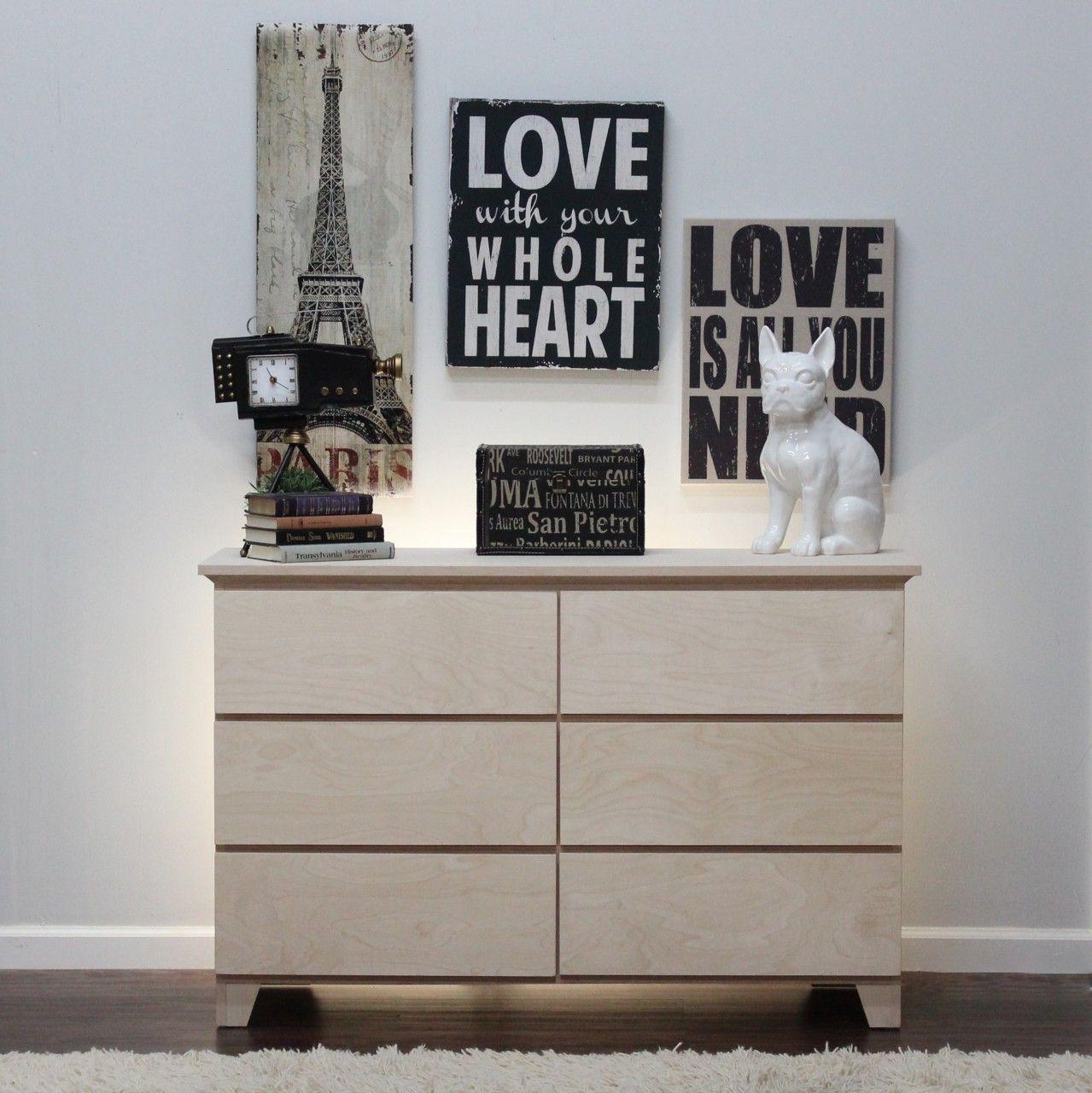 Best Mid Century Modern Six Drawer Dresser 17 X 50 X 32 Mid 400 x 300