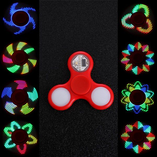 Anti Stress Reliever EDC Fid Spinner with 16 Pattern LED Light
