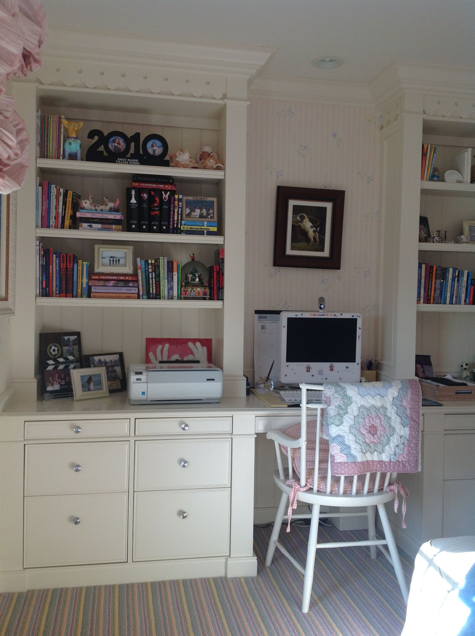 Nice bookcase and desk