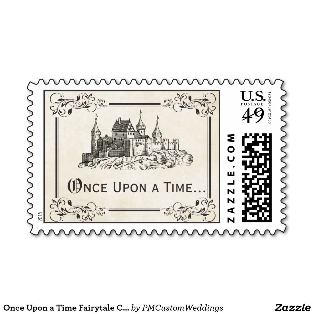 Once Upon A Time Fairy Tale Castle Postage Stamps Perfect For Your