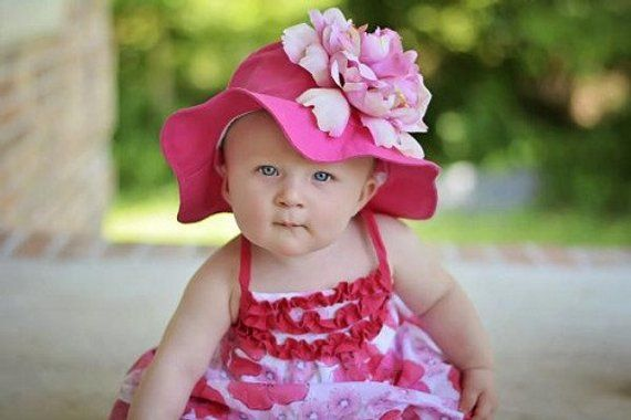 f25c80b1e Hot Pink Beach Hat For Girls- Sun Hats For Babies- Toddler Sun Hats ...