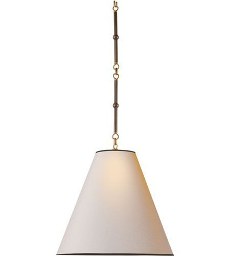 Goodman pendant lighting visual comfort thomas obrien goodman 1 light pendant in bronze with