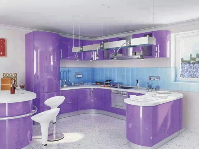 purple kitchen k che kitchen pinterest lila die farbe lila und purpur. Black Bedroom Furniture Sets. Home Design Ideas