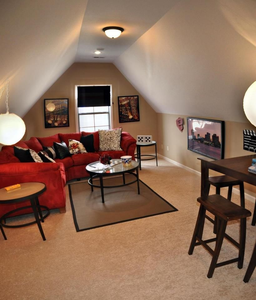 Here Are Some Other Genius Ideas For Tiny Bonus Rooms Tiny Bonus Room Diy Tags Bonus Room Ideas O Bonus Room Decorating Bonus Room Design Attic Game Room