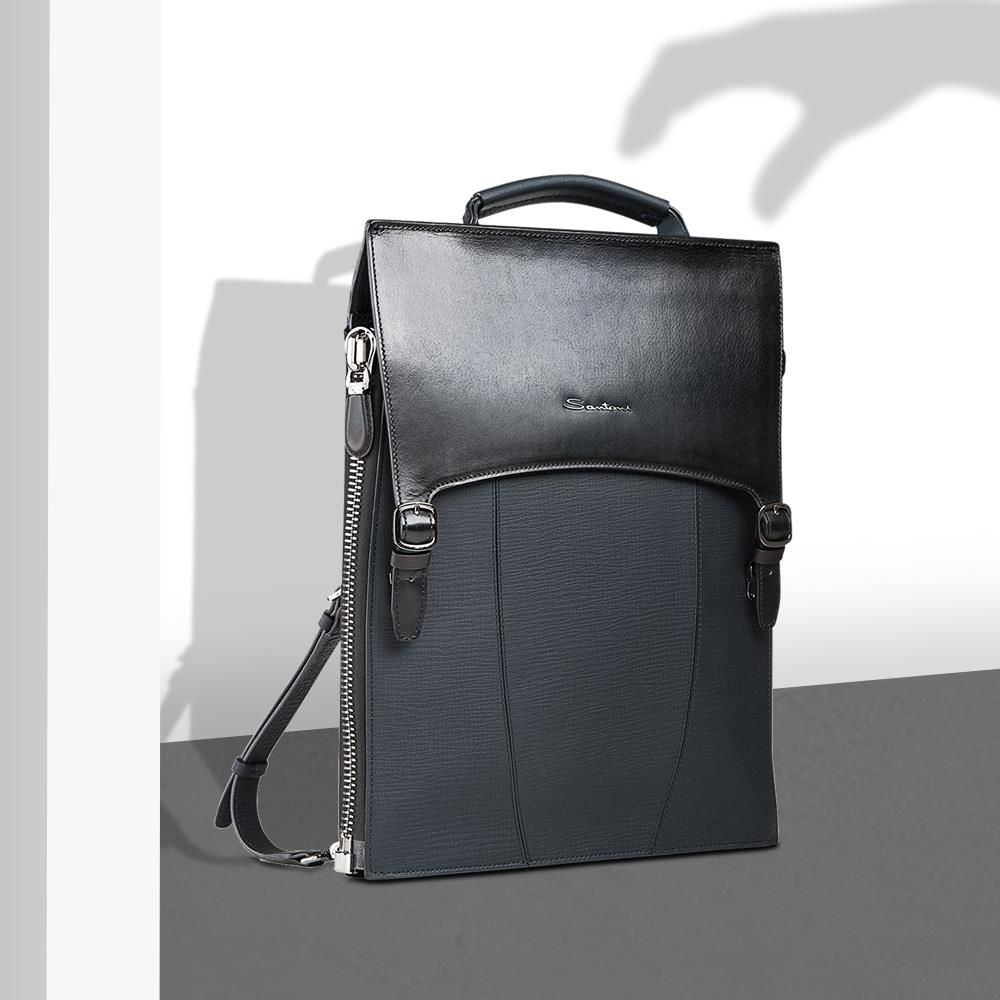 Calfskin Briefcase Santoni