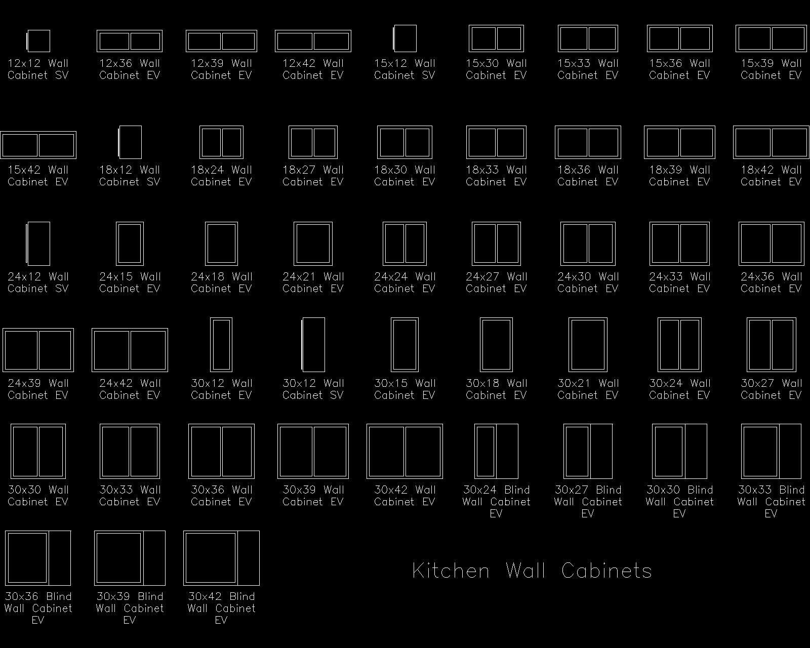 Kitchen Cabinet CAD Blocks | 橱柜 | Pinterest