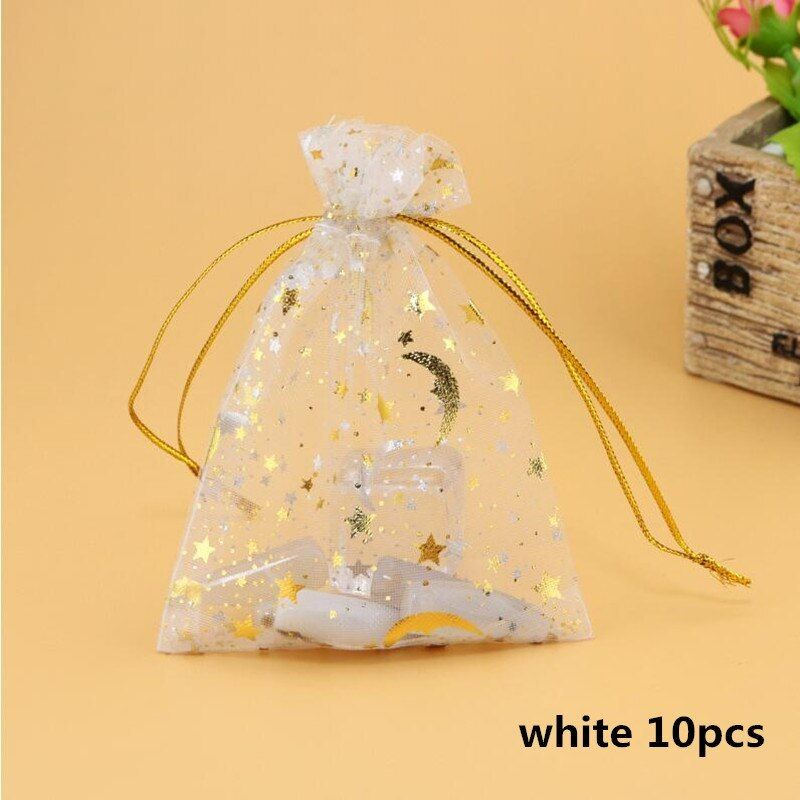 100PCS Organza Gift Bags Wedding Party Favor Bags Jewelry Pouches Wrap Rectangle