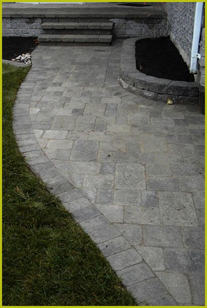Stone Walkway Installation : O'Brien and Family | Landscaping Service |  Landscape Construction | - Stone Walkway Installation : O'Brien And Family Landscaping