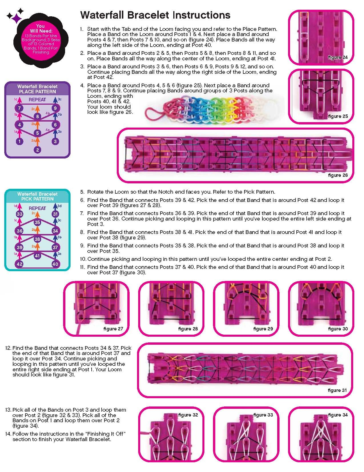 Cra-Z-Loom Instructions - Page 5 Rainbow Loom Bands, Rainbow Loom Bracelets