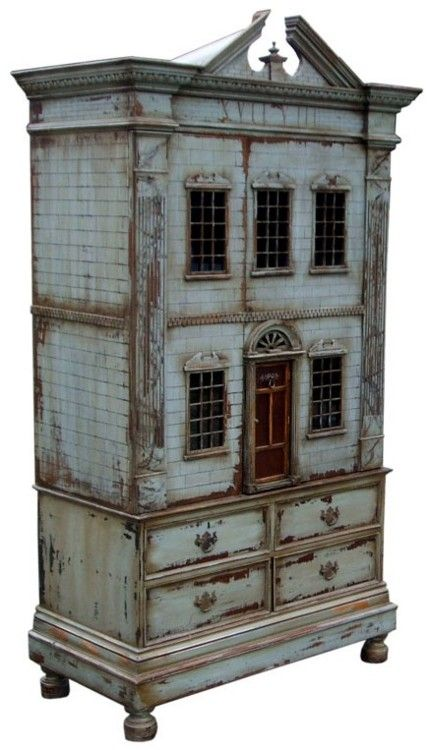 I have a small cabinet I could alter Baby house miniature