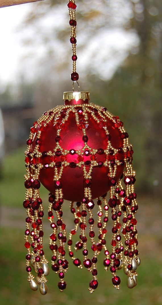 CHRISTMAS DELIGHT Bauble Cover Tutorial, Features your choice of - polish christmas decorations