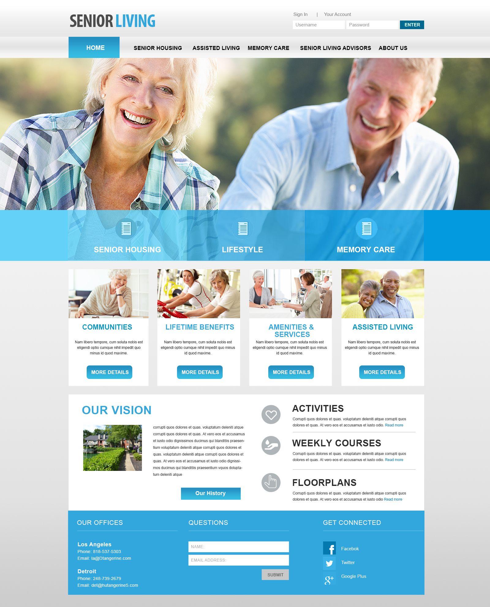 Beautiful Senior Living Websites Retirement Homes Website Design And Beautiful Senior Center Websites Onli Senior Living Website Design Senior Living Design