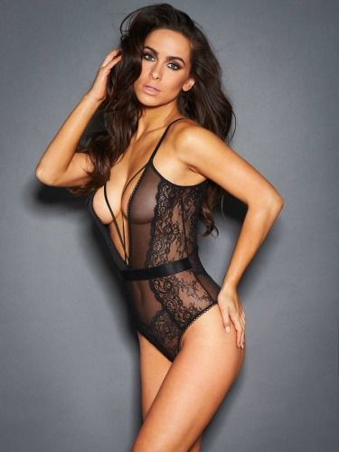 3a6b820ab44 Genevieve Lace and Mesh Teddy FINAL CLEARANCE