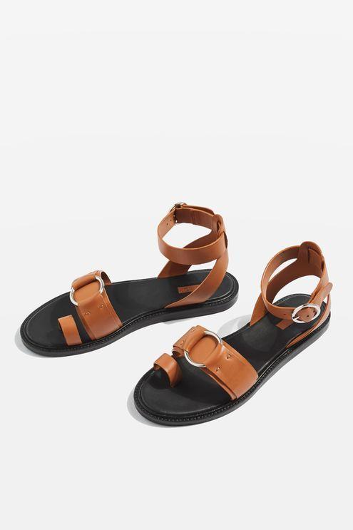 a6ce0fe0b661d FRAY Toe Ring Flat Sandals