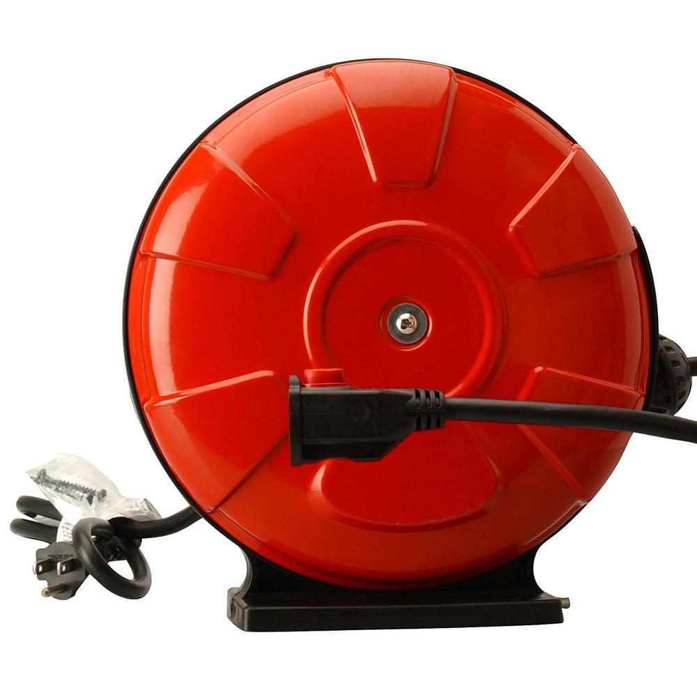 Southwire 30 Ft 14 3 Sjtw Retractable Cord Reel With Locking Plug