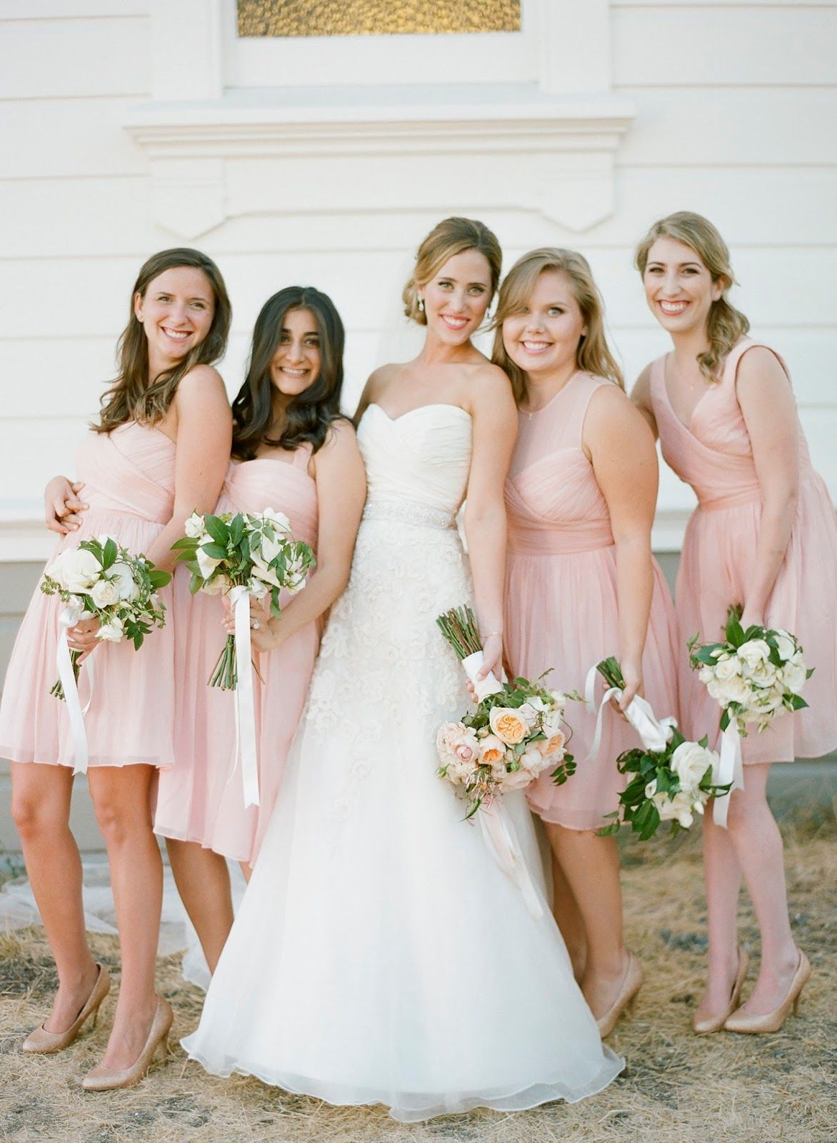 Shannon Becca JCrew Silk Chiffon Misty Rose Color Bridesmaid Dresses