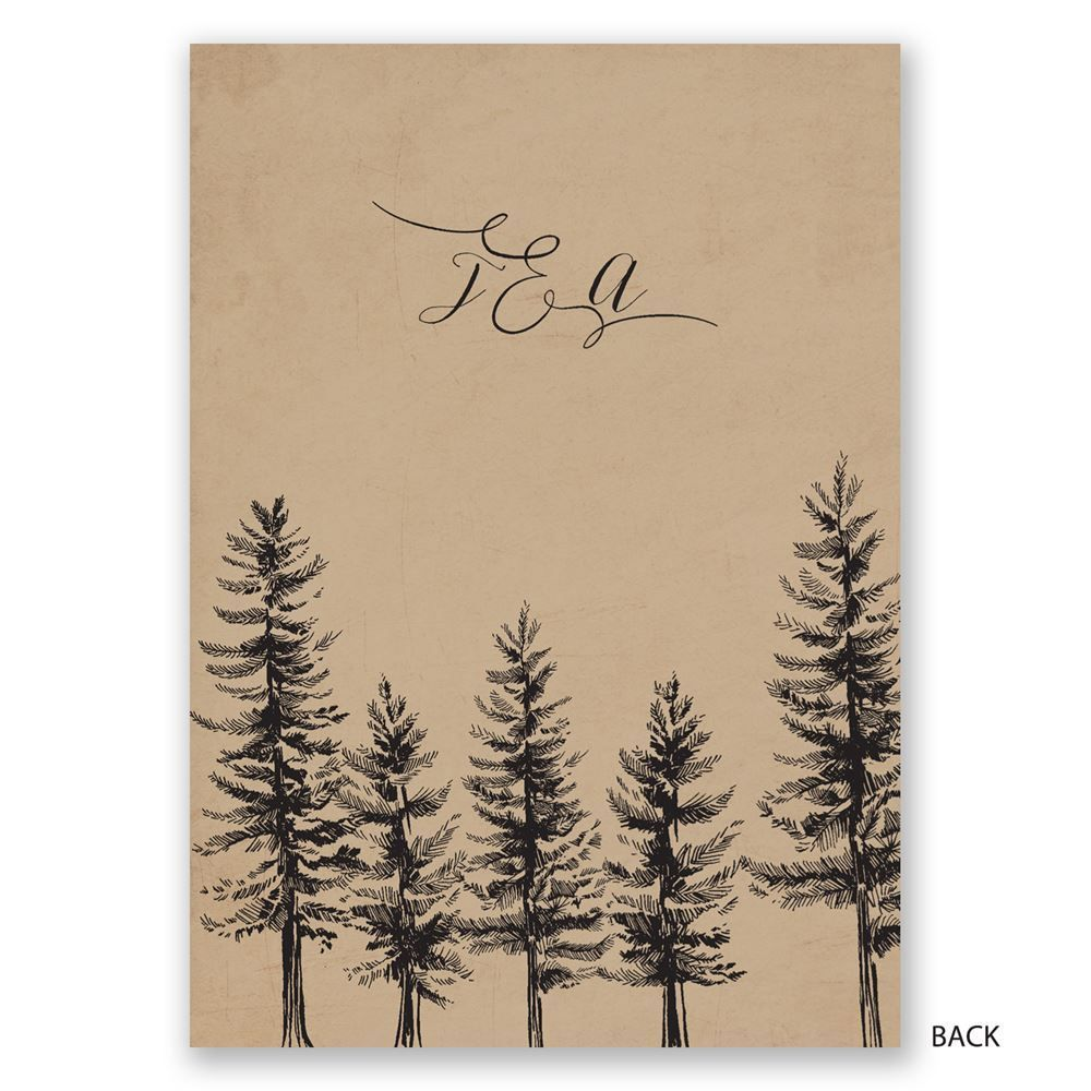 Spruced Up Invitation Dawn And Pine Tree