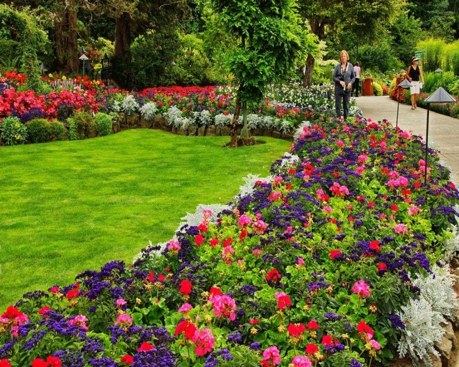 get the beauty flower bed design garden flower
